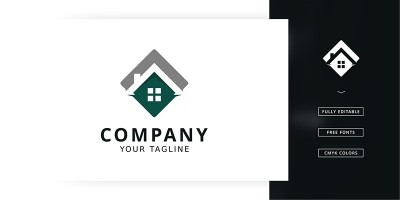 House Sign Logo Template