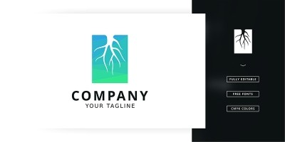 Root Slice Logo Template