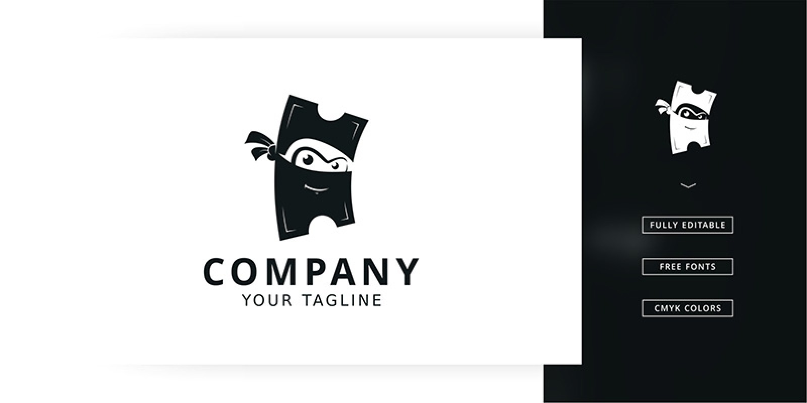 Ticket Ninja Logo Template