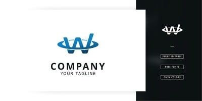 W Network Logo Template