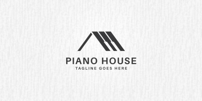 Piano House Logo Template