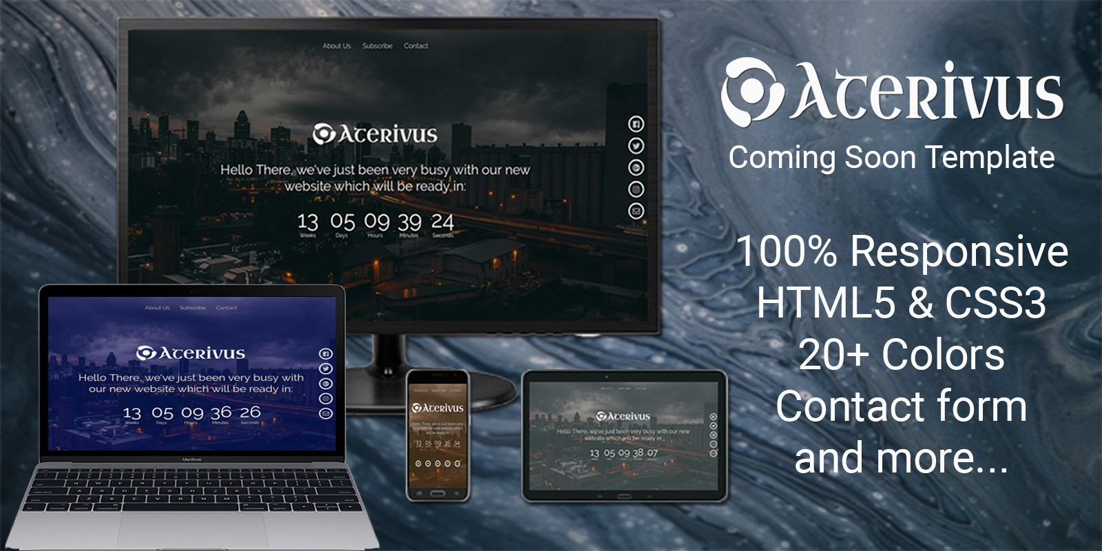 Aterivus - Coming Soon Template