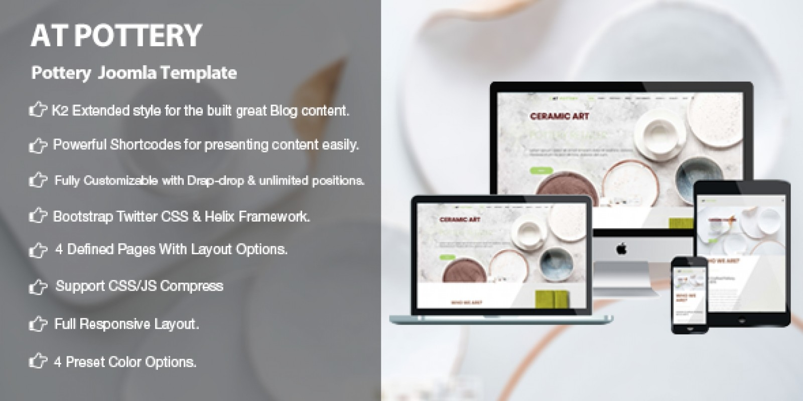 AT Pottery - Pottery Joomla Template
