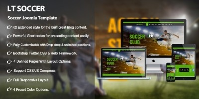 LT Soccer - Premium Joomla Soccer Template
