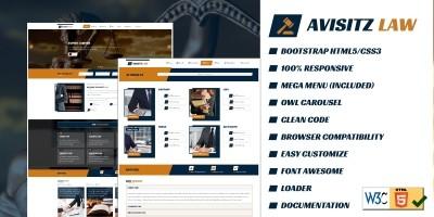 Avisitz Law - Lawyer HTML5 Template