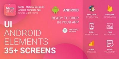Matta - Material Design Android UI Template