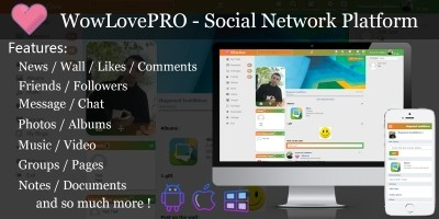 WowLovePro - Social Network Platform
