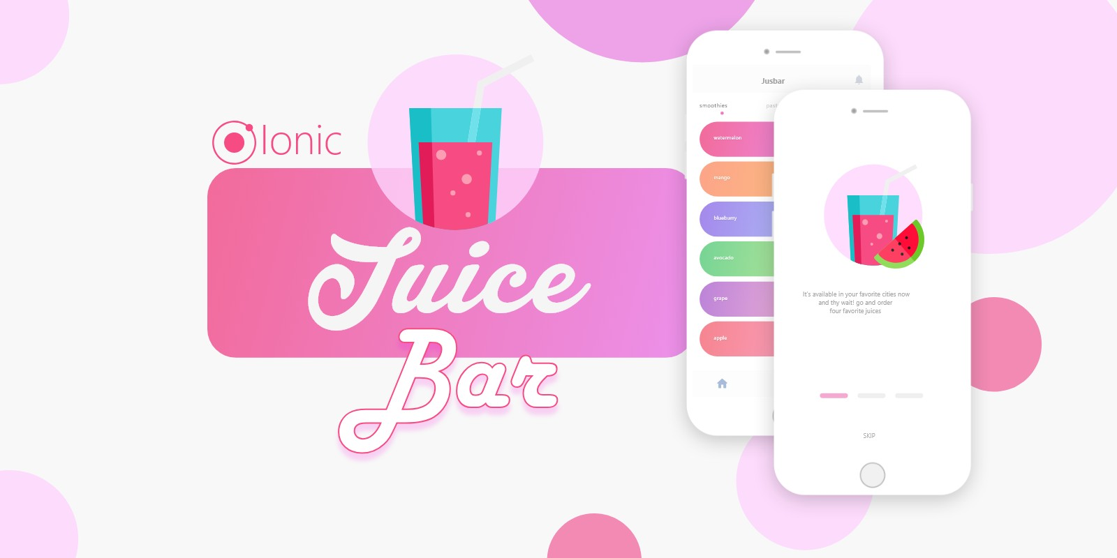 Ionic Juice Bar UI Theme