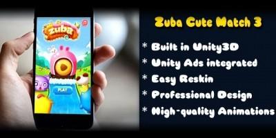 Zuba Cute Match 3 - Unity Game Source Code
