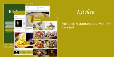 Kitchen - Ionic 3 Restaurant App With PHP Backend