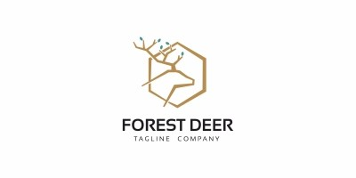 Forest Deer Logo Template