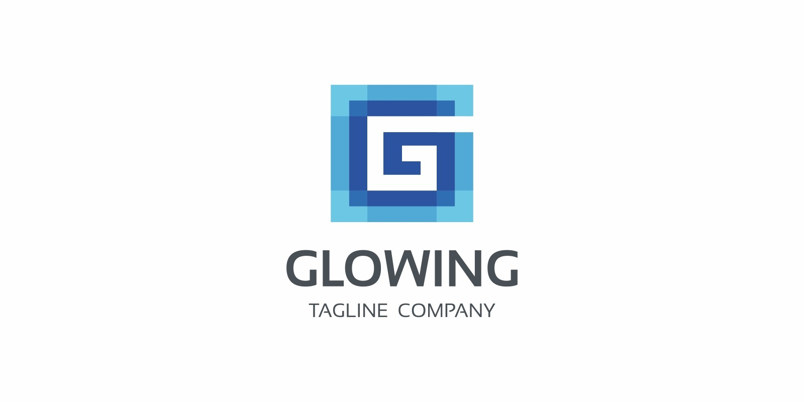 Glowing G Letter Logo