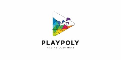 Play Polygon Colorful Logo