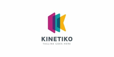 Kinetica Letter K Logo