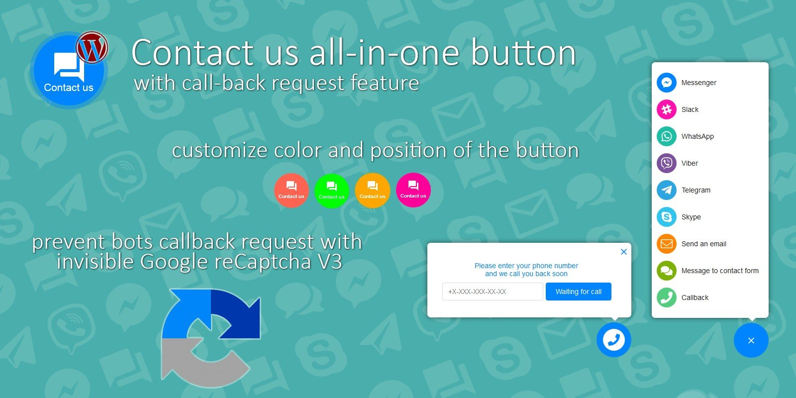 Contact Us All-In-One Button - WordPress Plugin