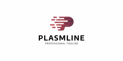 Plasma Line P Letter Logo