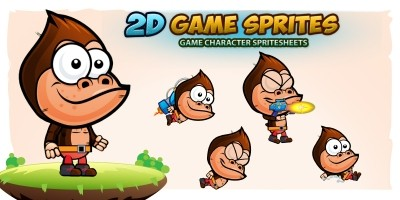 Gorilla Game Character Sprites