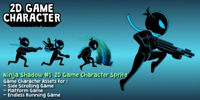 Ninja Shadow 1 Game 2D Character