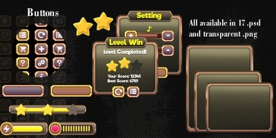 Metallic Game UI