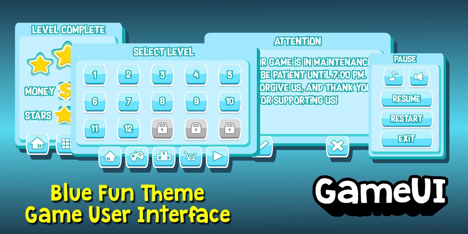Blue Fun Theme GUI