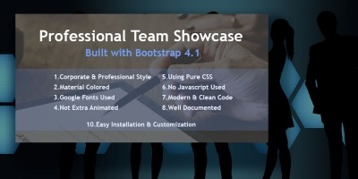 Bootstrap Team Member Showcase
