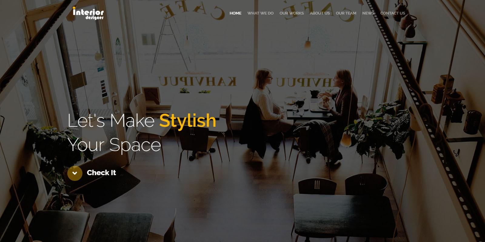 Interior Designer - Portfolio HTML Template