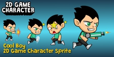 Cool Boy 2D Game Character Sprite