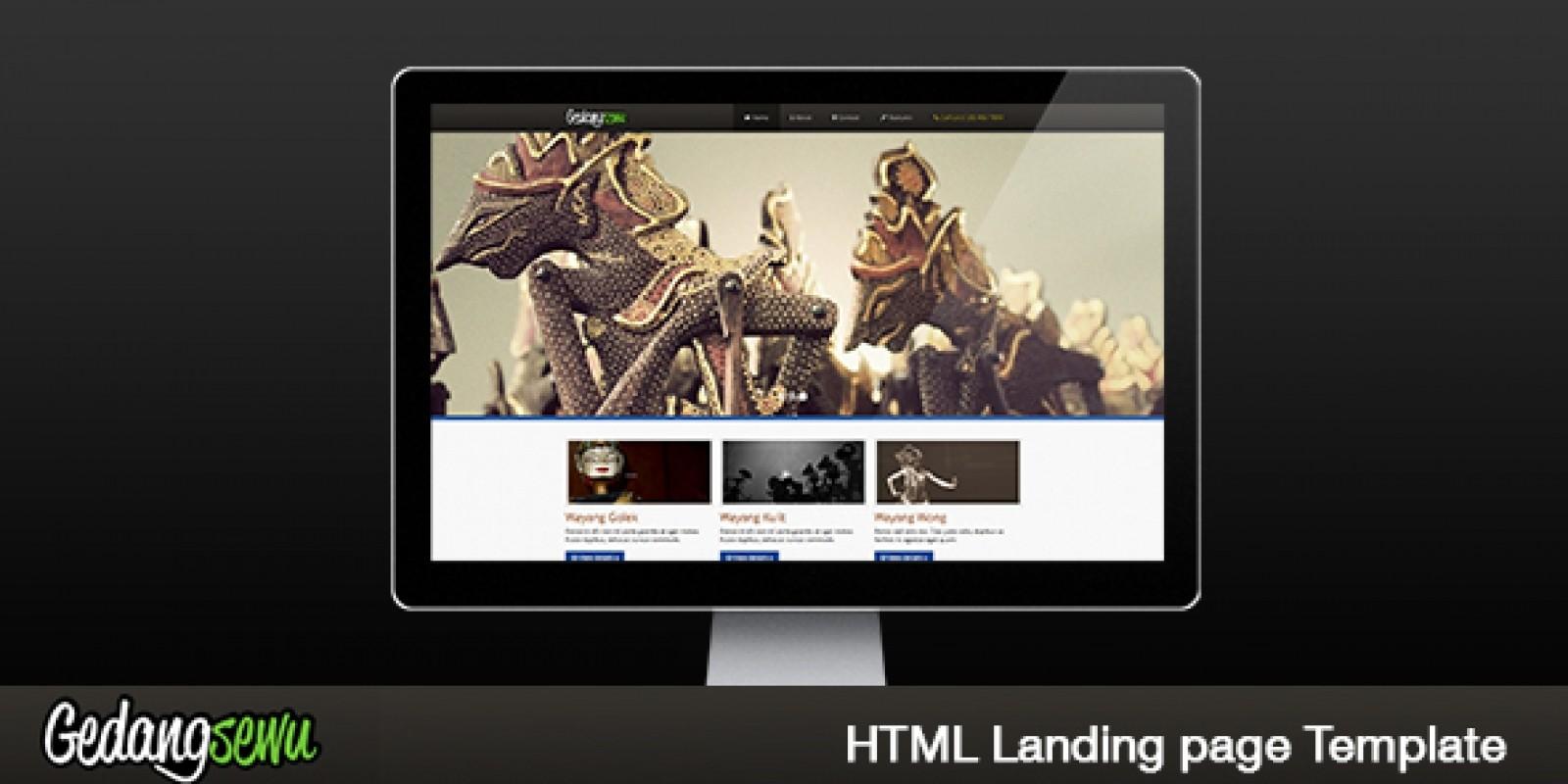 Gedangsewu - Responsive Landing Page HTML Template
