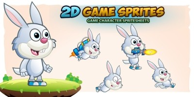 Bunny 2D Game Character Sprites