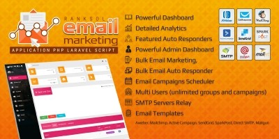 Ranksol Bulk Email Marketing Web Application PHP