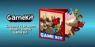 Cowboy vs Dragon Desert Theme Gamekit