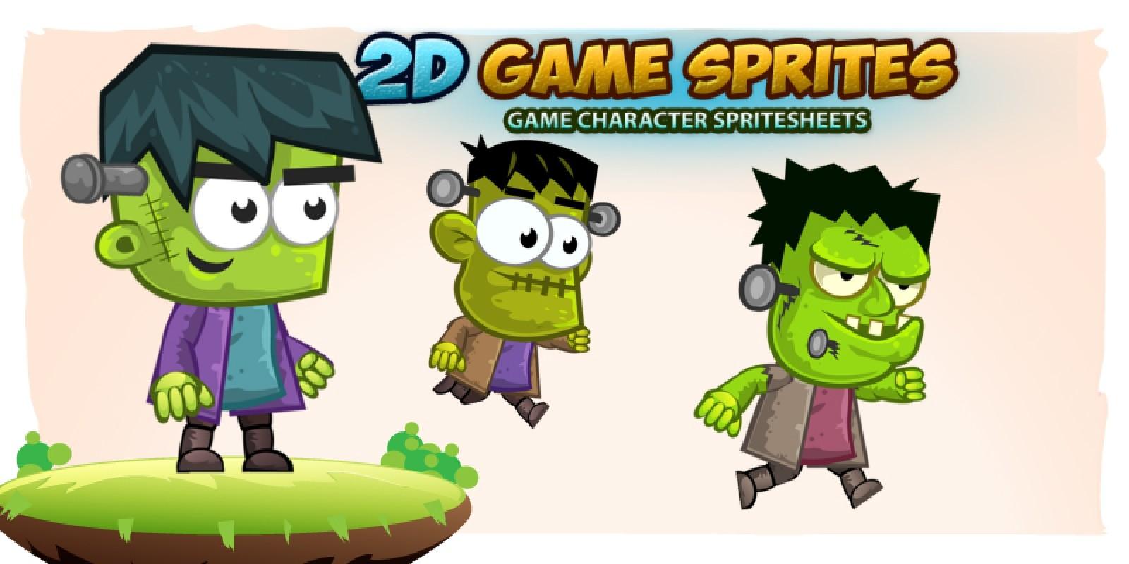 Frankenstein 2D Game Character Sprites