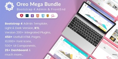 Oreo Mega Bundle Bootstrap 4 Admin UI Kit