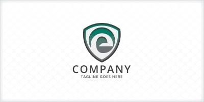 Letter E Shield Logo