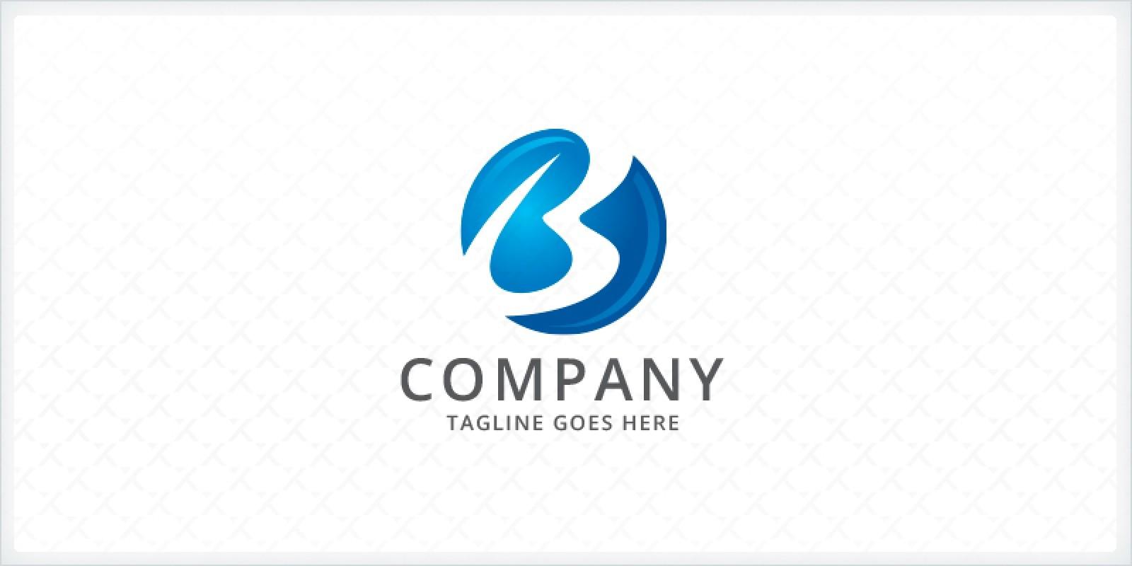 Letter B sphere Logo