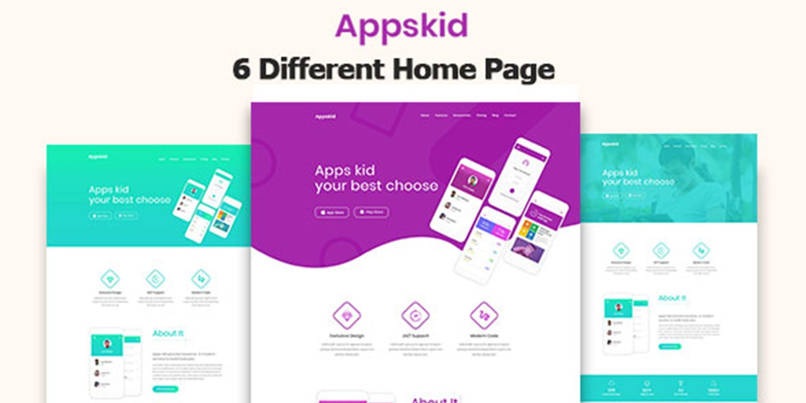 appskid app landing page html5 template html marketing landing