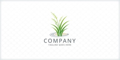 Lawn Care - Grass Logo