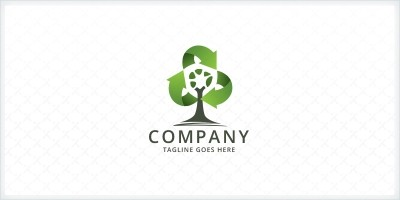 Recycling Arrows - Tree Logo