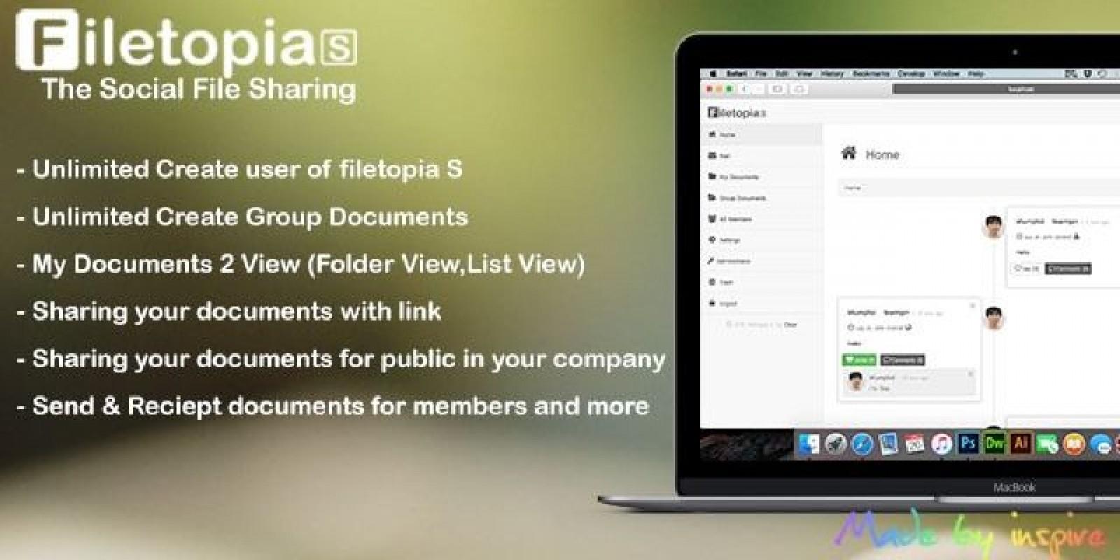 Filetopia S - Social File Sharing PHP Script