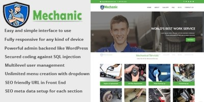 Mechanic Services - Business CMS
