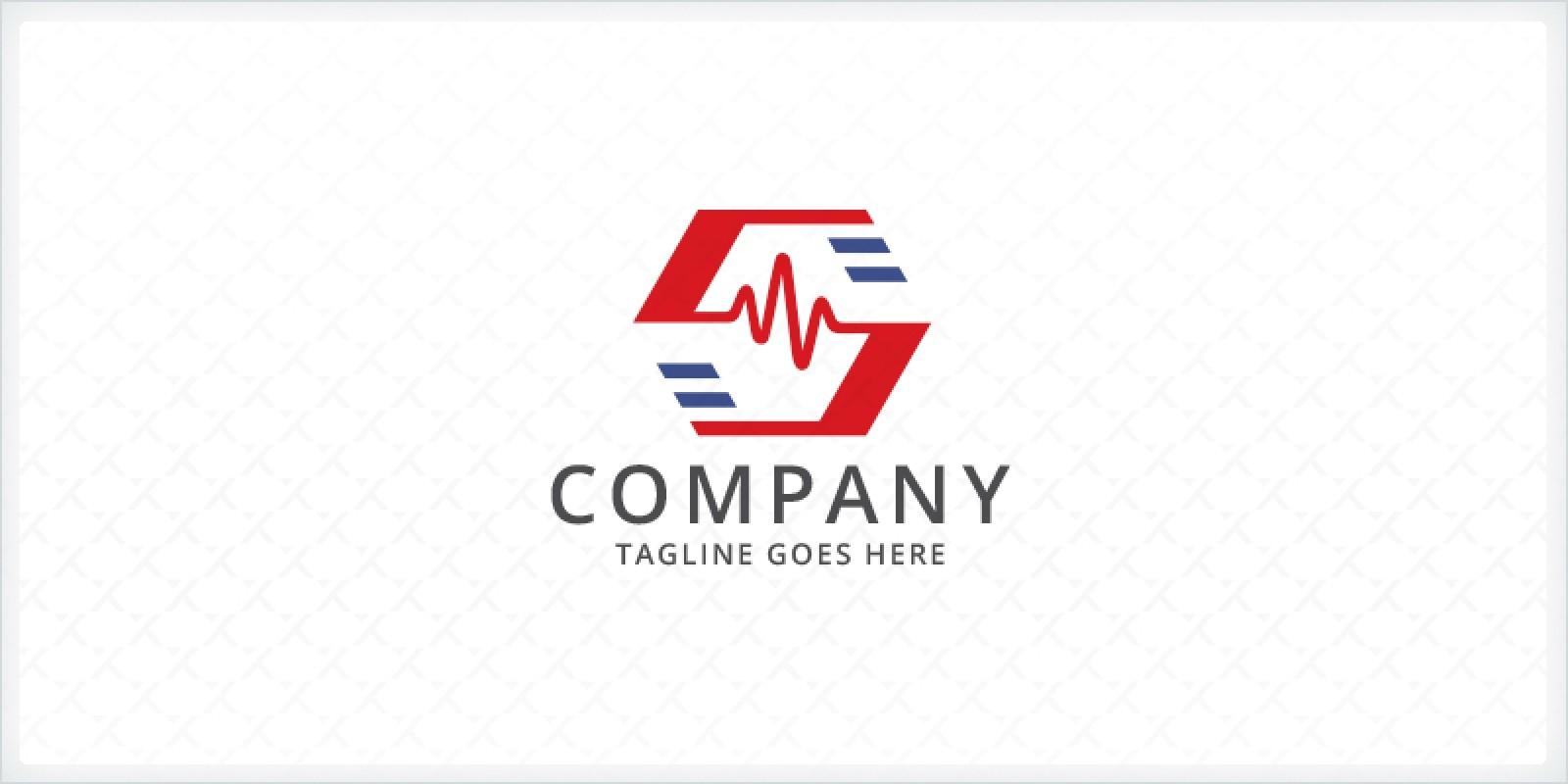 Letter S - Electrocardiogram Logo