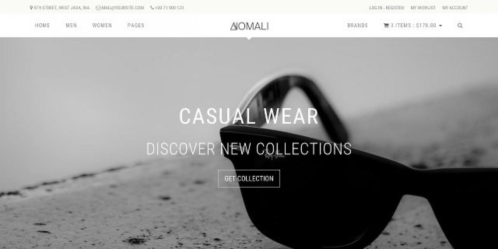 Anomali - Ecommerce HTML Bootstrap Template