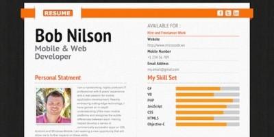 Freelancer CV Resume - PHP Script