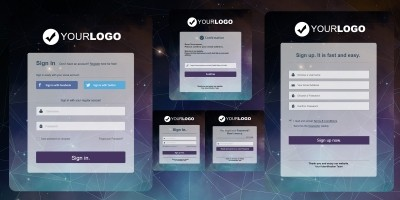 Polygon Form PSD Pack