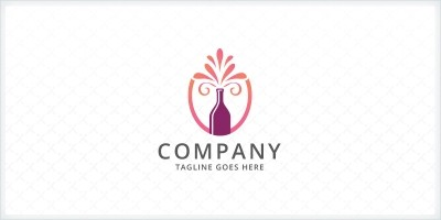 Wine Bottle Logo