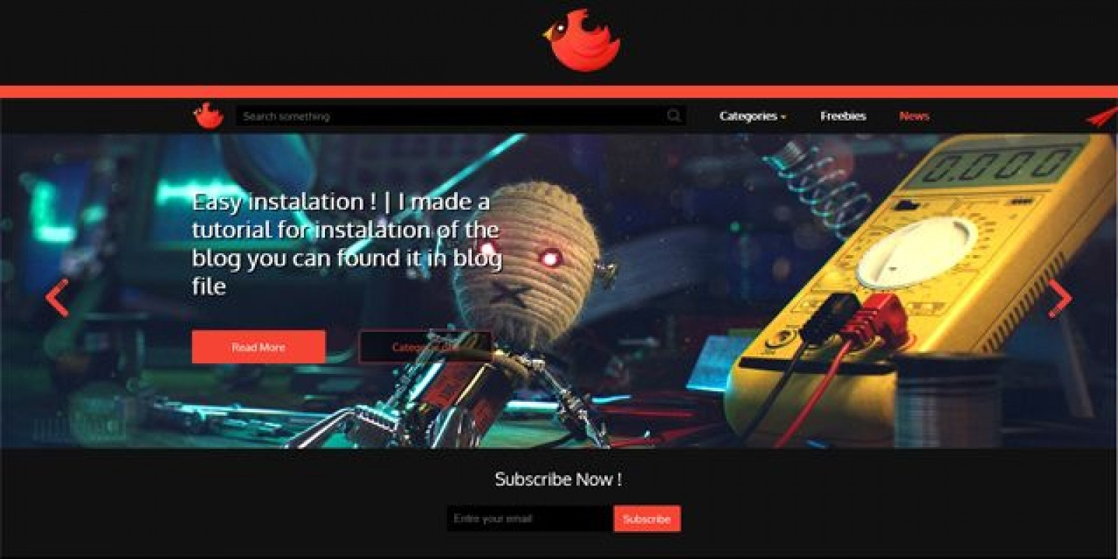 Blog with Control panel - PHP Script