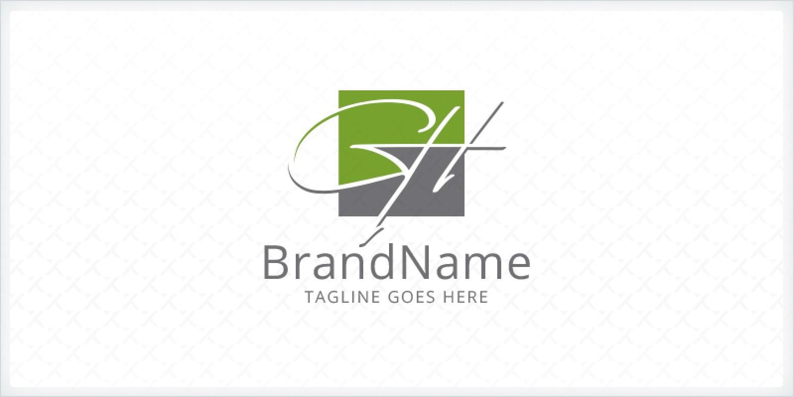 Letters GH Signature Logo