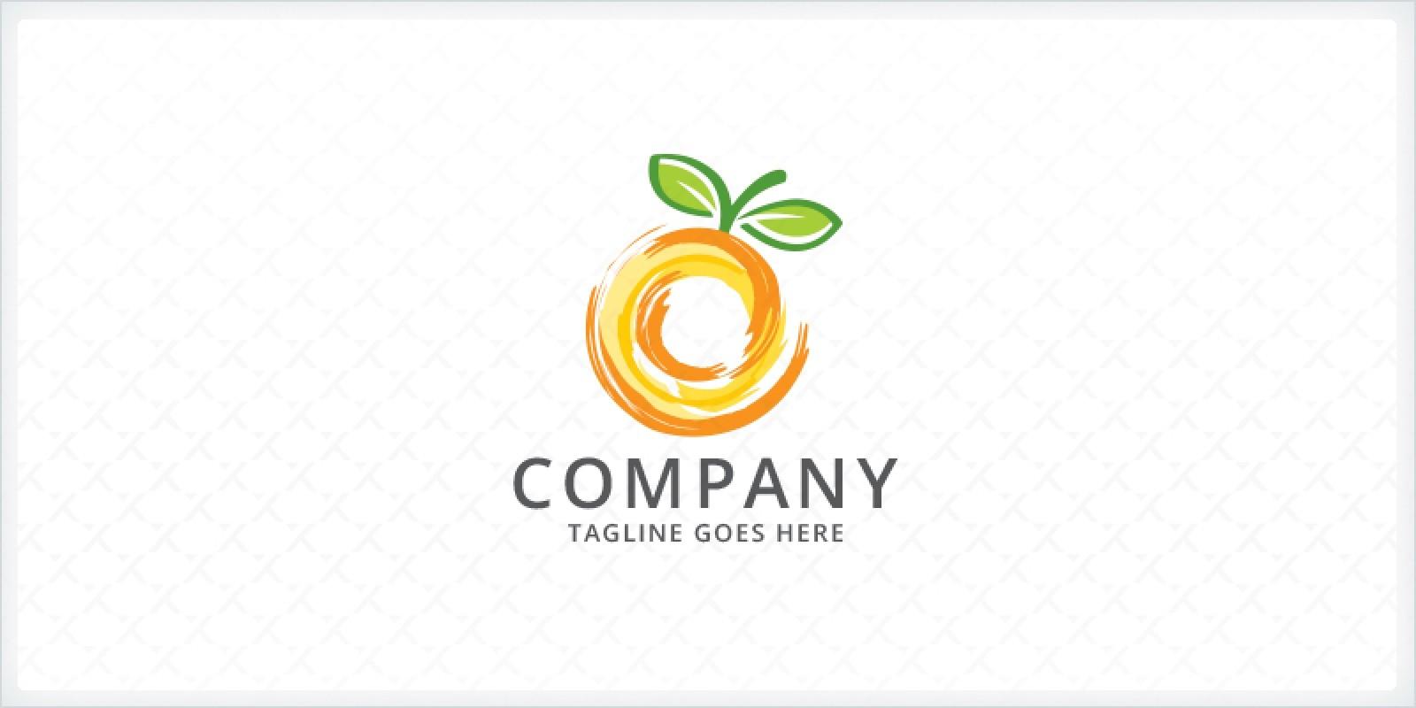 Orange Fusion - Fruit Logo