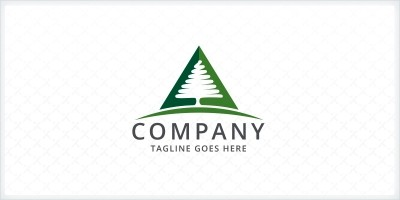Pine Tree Triangle Logo