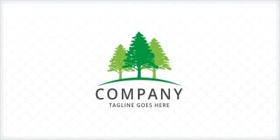 Trees - Landscaping Logo